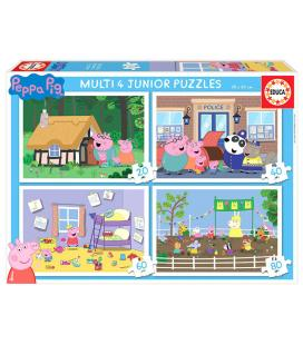 Puzzle multi 4 Junior Peppa Pig 20-40-60-80pz