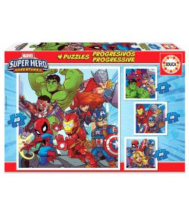 Puzzle Super Heroe Adventures Marvel 12-16-20-25pz