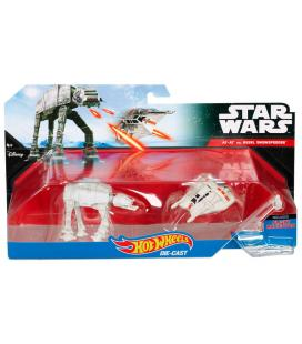 Blister AT-AT vs Rebel Snowspeeder Star Wars Hot Wheels - Imagen 1