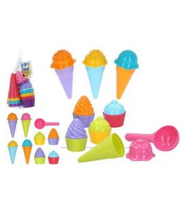 Set de Juguetes de Playa Ice Cream and Cupcakes Color Beach (17 pcs) - Imagen 1