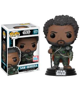 Figura POP! Star Wars Rogue One Saw Gerrera with Hair 2017 Fall Convention Exclusive - Imagen 1