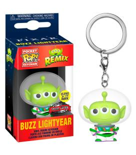 Llavero Pocket POP Disney Pixar Alien Remix Buzz Glow Exclusive - Imagen 1