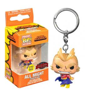Llavero Pocket POP My Hero Academia All Might Silver Age Glow in the Dark Exclusive - Imagen 1