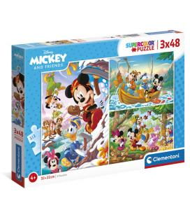 Puzzle Mickey and Friends Disney 3x48pzs - Imagen 1
