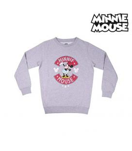Sudadera sin Capucha Mujer Minnie Mouse Gris Mujer - Imagen 1