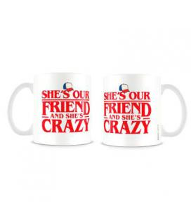 Taza She is our Friend and She is Crazy Stranger Things - Imagen 1