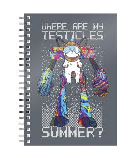 Cuaderno A5 Where Are My Testicles Rick and Morty - Imagen 1
