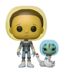 Figura POP Rick & Morty Space Suit Morty with Snake - Imagen 1