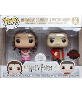 Set 2 figuras POP Harry Potter Hermione and Krum Yule Exclusive - Imagen 1