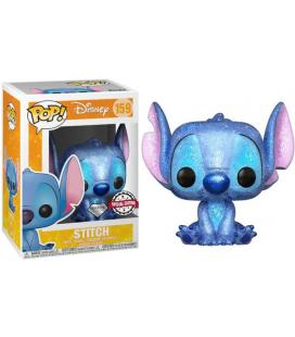 Figura POP Disney Stitch Seated Diamond Glitter Exclusive - Imagen 1