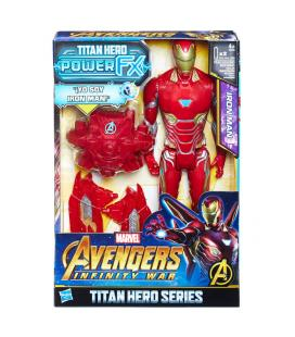 Figura Titan Hero Power FX Iron Man Vengadores Avengers Marvel 30cm - Imagen 1