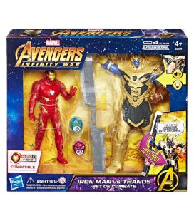 Set figuras Iron Man vs Thanos Vengadores Avengers Marvel - Imagen 1