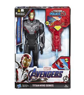 Figura Titan Hero Power Iron Man Vengadores Marvel 30cm - Imagen 1
