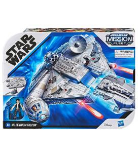 Set Millennium Falcon + figura Han Solo Star Wars Mission Fleet - Imagen 1