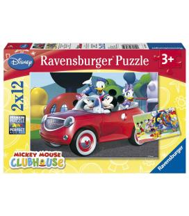 Puzzle Mickey Minnie and Co. Disney 2x12pz - Imagen 1