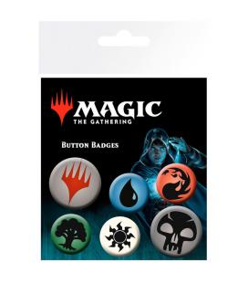 Set chapas Symbols Magic The Gathering Mana - Imagen 1