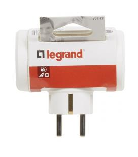 BASE MULTIPLE LATERAL LEGRAND 050662 - 3X2P+T - 10/16A - BLANCO - Imagen 1
