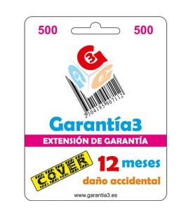 Seguro de Daño Accidental 12 Meses hasta 500¤ PVP para Productos Electrónicos