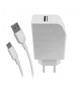 Cargador de Pared Muvit For Change MCPAK0002/ 1 USB + Cable USB Tipo-C/ 2.4A