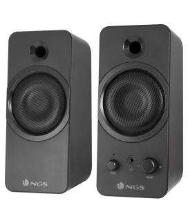 ALTAVOCES GAMING 2.0 NGS GSX-200 - 20W RMS - SUPERGRAVES - JACK 3.5MM PARA AURICULAR - 150HZ-18KHZ - USB - NEGRO MATE - Imagen 1