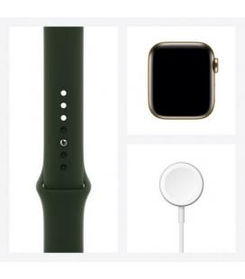 APPLE WATCH S6 40MM GPS CELLULAR CAJA ACERO ORO CON CORREA VERDE CHIPRE SPORT BAND - M06V3TY/A - Imagen 4
