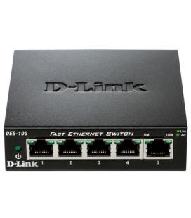 SWITCH D-LINK DES-105 - 5 PUERTOS 10/100 - AUTO MDI/MDIX - PLUG AND PLAY - Imagen 1