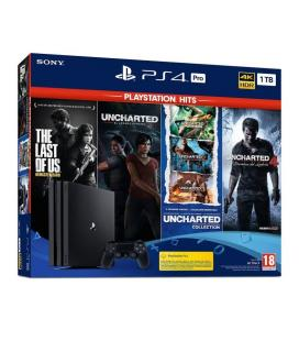 Consola Sony PS4 Pro 1TB + Juegos The Last of Us/ Uncharted Legacy/ Uncharted Collection/  Uncharted 4